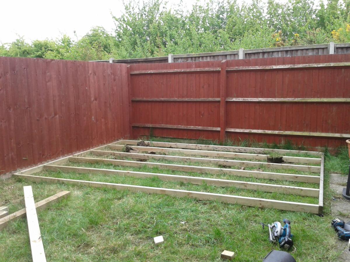 Rushden garden create landscaping for Garden decking framework