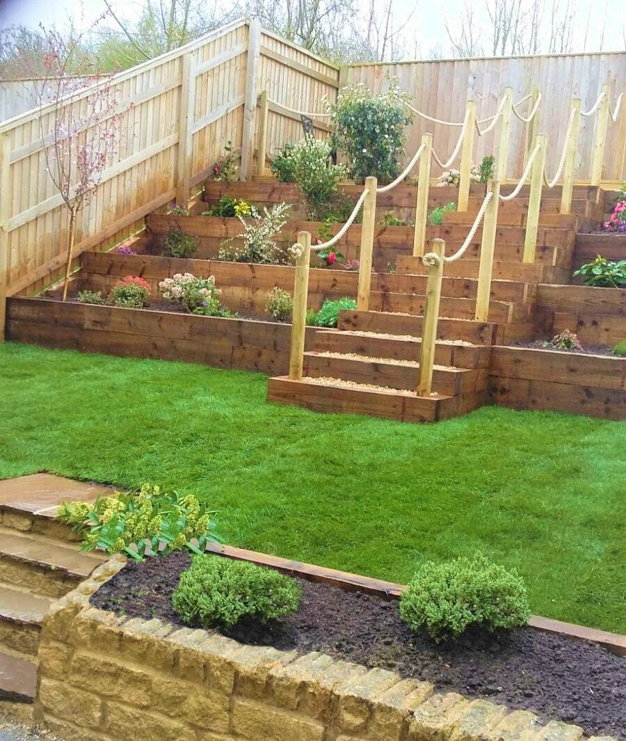 Terraced Garden Create Landscaping